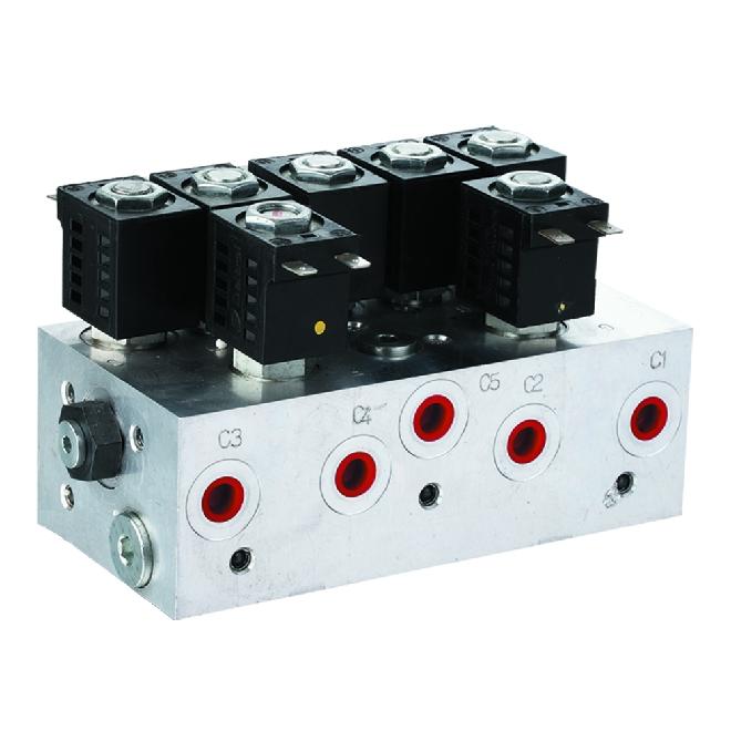 Hydraulic valve group agent