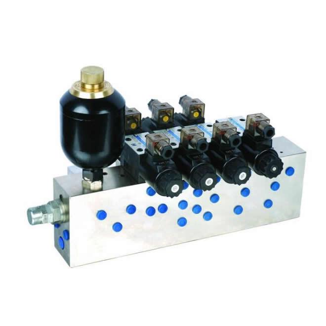 Principle of hydraulic valve set