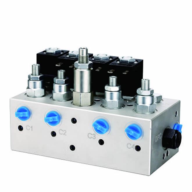 Hydraulic valve group
