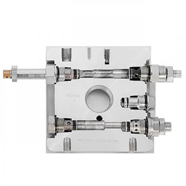 Excavator hydraulic valve set
